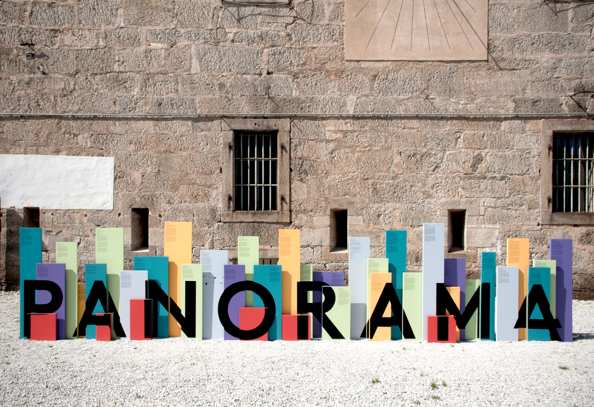 Claudia Polizzi Signage system and identity, Panorama 4, 2012
